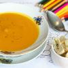 Крем-суп тыквенный с гренками