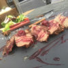 Стейк из говяжьей вырезки под вишневым соусом