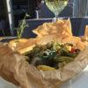 Нежный стейк палтуса на гриле с овощами