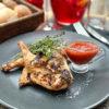 Цыпленок Диабло на гриле с домашним лечо