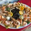 Большая тарелка с морепродуктами
