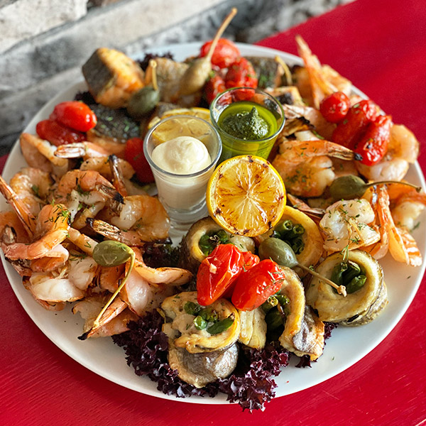 Малая тарелка с морепродуктами