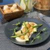 Морские гребешки из охотского моря с пюре из цветной капусты